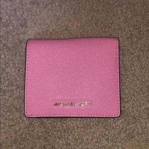 Pink Michael Kors folding wallet